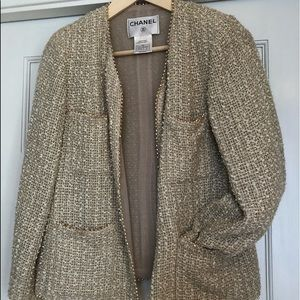 Authentic silk with pearls CHANEL Jacket